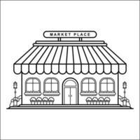 diseño de esquema de edificio de la ciudad para el estilo de libro de dibujo veinticuatro vector