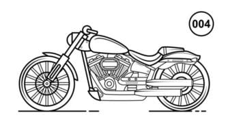 Motorcycle Outline Design for Drawing Book Style 004 vector