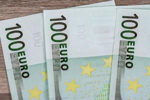 detail of the 100 euro banknote photo