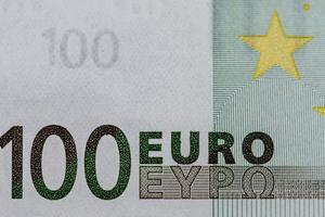 Detalle del billete de 100 euros foto
