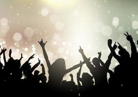 party crowd on bokeh lights background 2107 vector