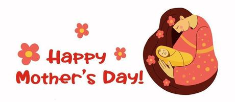 Elegant Greeting Card design with Creative Text Happy Mothers Day vector