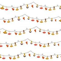 tarjeta de otoño con guirnaldas de setas. vector