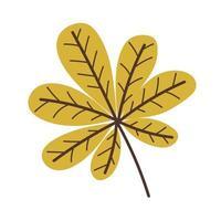 Yellow autumn chestnut leaf vector