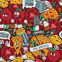 pizzeria seamless pattern vector