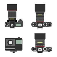 Set of compact and mirrorless camera, icon digital camera of vector. vector