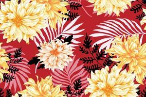 patrón de tela del crisantemo vector