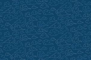 oriental seamless pattern with clouds. Chinese Mid Autumn festival. vector