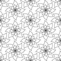 Abstract minimalist seamless pattern with hand drawn mandala flower vector