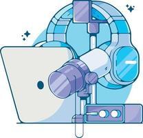 Home appliances laptop a convenient gadget for work and entertainment vector