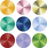 metallic gradient multicolor circle buttons vector