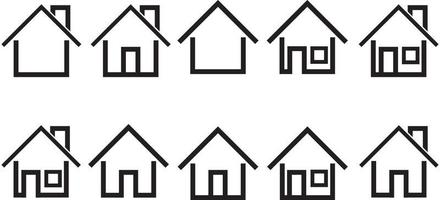set of house icon vector illustration