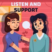 campaña de concientización sobre salud mental vector