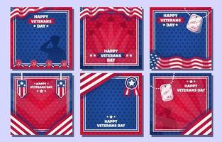 Veterans Day Social Media Posts vector