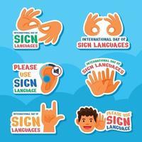 Celebrating International Sign Languages Day vector
