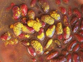 frijoles al curry foto