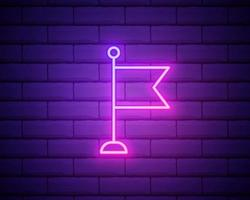 Vector realistic isolated neon sign of colour flag