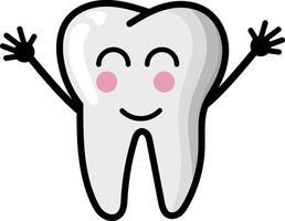 Teeth dental cute illustration set emoticon tooth icon sign teeth vector