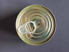Tin can for canned food photo