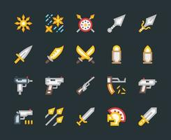 Weapons and Armor Icons vector