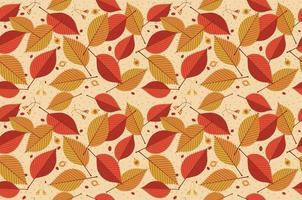patrón de hoja transparente de otoño. sale de. defoliación vector