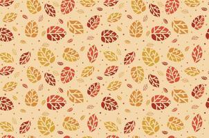 caída de las hojas de otoño. patrón sin costuras. defoliación. vector