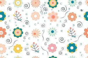 flor de patrones sin fisuras. naturaleza. version ligera. vector