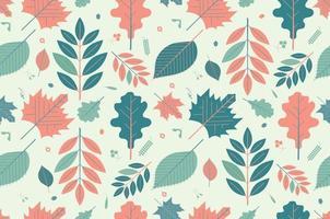 hoja de patrones sin fisuras. naturaleza. vector