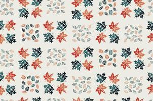 hojas de arce. patrón sin costuras. hoja cae. vector