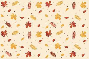 hoja de patrones sin fisuras. otoño. version ligera. vector