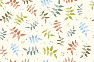 ramas de flores. patrón sin costuras. leña menuda. vector