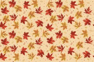 hojas de arce. patrón sin costuras. otoño. defoliación vector