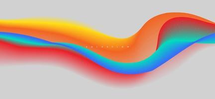 Fondo de vector de onda líquida colorido dinámico