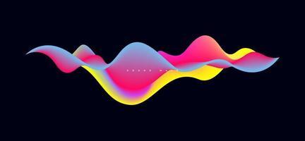 Fondo de vector de onda líquida colorido dinámico.