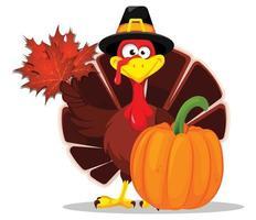 Thanksgiving turkey. Happy Thanksgiving day vector
