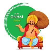 feliz festival onam en kerala. celebración onam vector