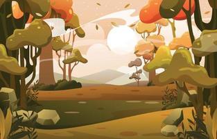 Nature Landscape Background vector