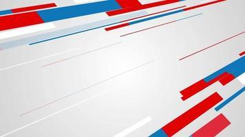 linee rosse e blu che si muovono su uno sfondo bianco video