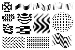 Abstract vector geometric figures. Black and white
