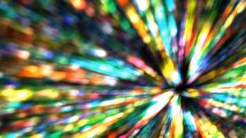 Abstract star burst with rainbow lights in a gravity black hole video