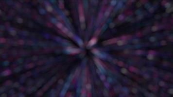 Abstract purple blurred star burst video