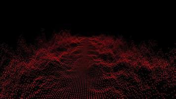 Oscilación de bola de forma de onda roja abstracta futurista video
