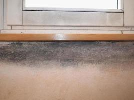Dampness moisture on wall photo