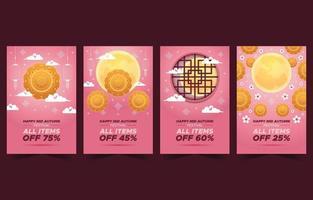 Mid Autumn Gift Cards vector