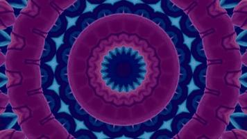 Pink and Blue with Teal Accents Kaleidoscope Background Element video