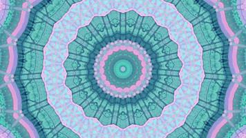 90's Teal and Pink Kaleidoscope Element video