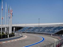 Sochi, Russia - August 2019 - Formula 1 track in Olympic Park photo