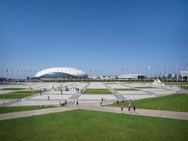 View to the big area in Olympic Park in Sochi, Russia, 2019 photo