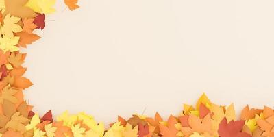 fondo de hojas de otoño foto