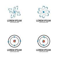 Atom icon logo. Vector illustration Symbol of science